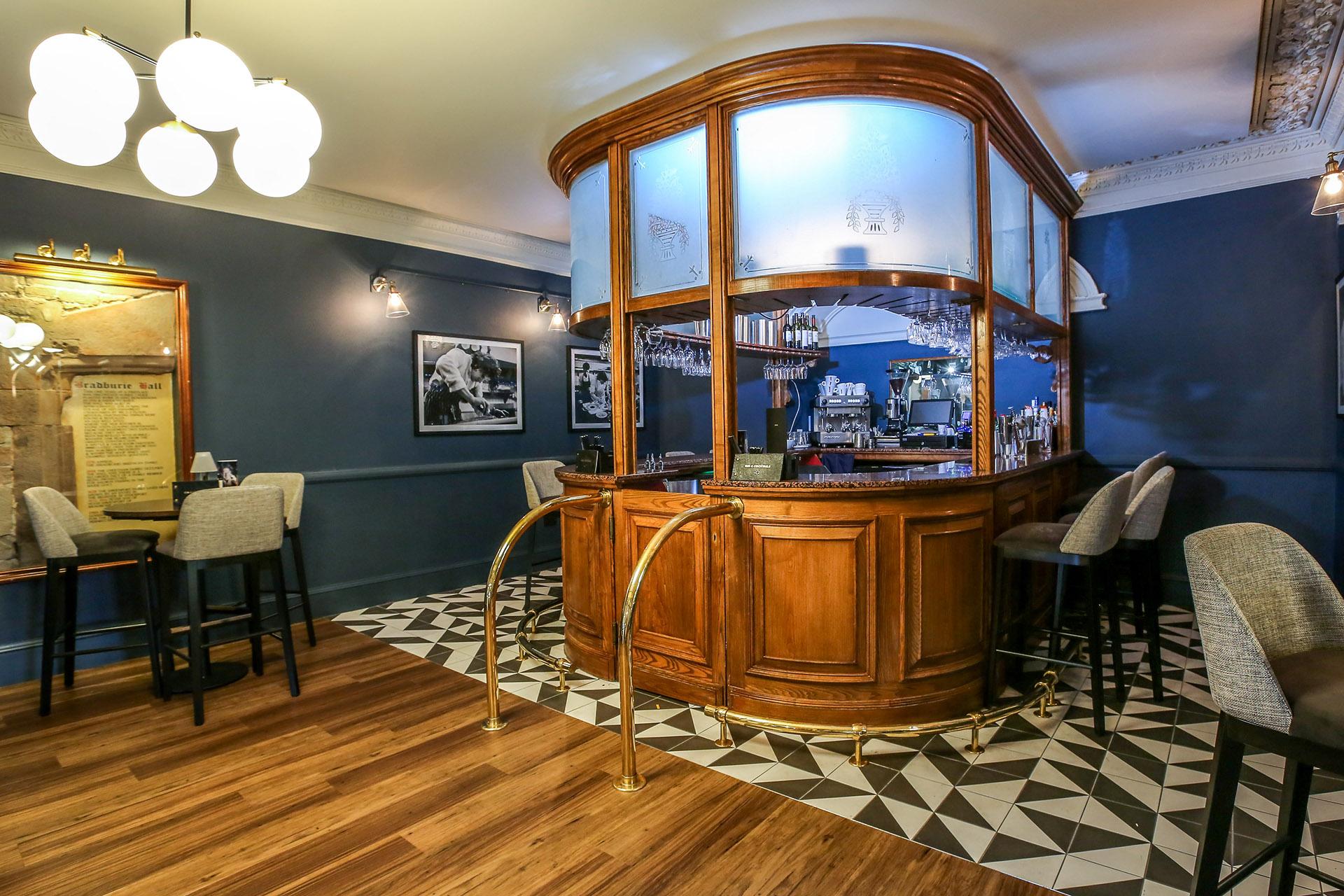 The bar at Bredbury Hall Stockport Cheshire
